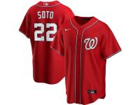Men's Washington Nationals Juan Soto Nike Red Alternate 2020 Player Jersey